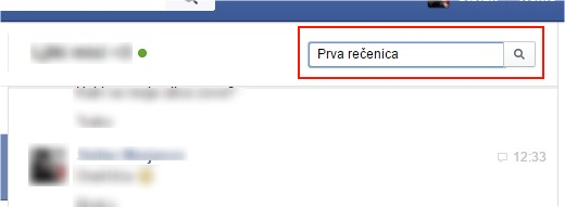 facebook first message how to