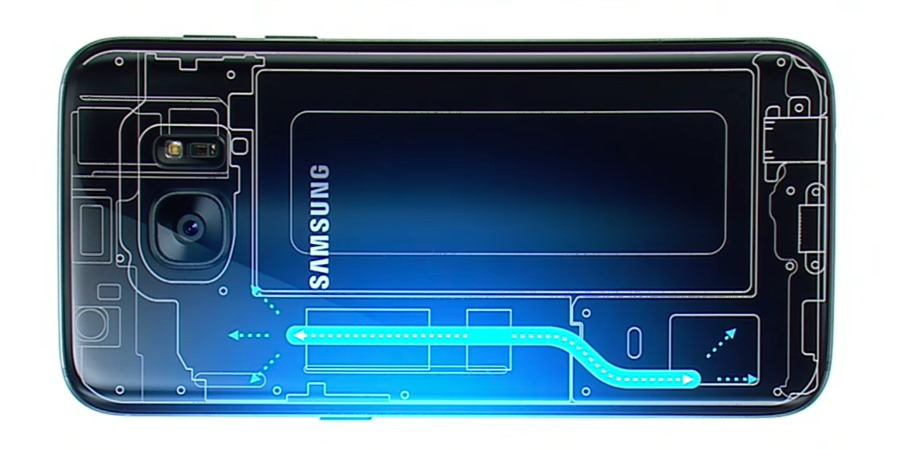 galaxy s7 cooling system water