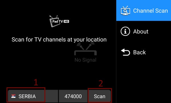 DVB-T2 android