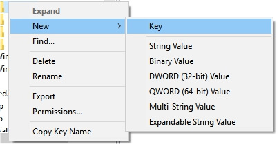 new registry key create (2)