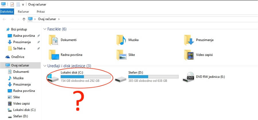 why windows c partition label