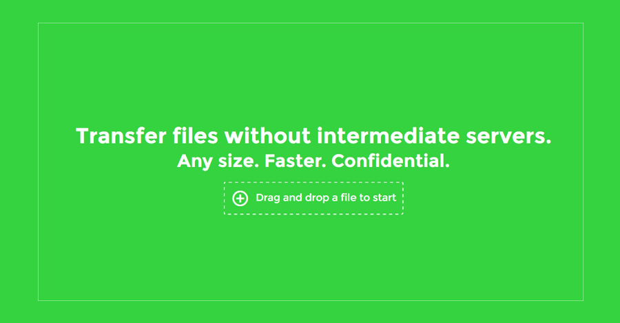 send p2p files over browser