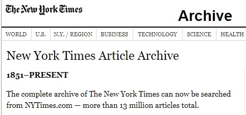 new york times archived